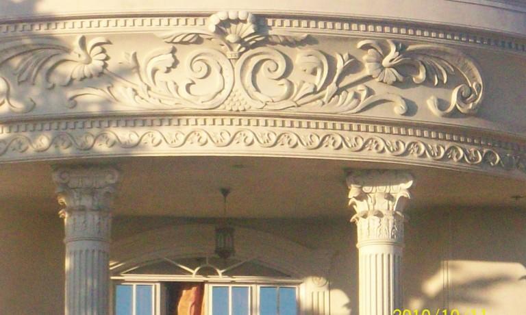 اجرای نمای رومی با مصالح